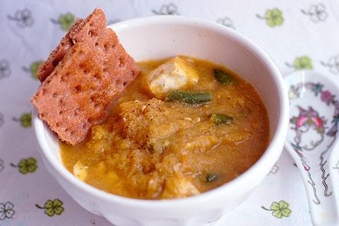 豆腐とカリフラワーのポタージュスープ