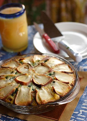 カマンベール・チーズのせオムレツ