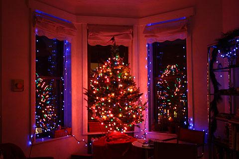 わが家のクリスマスツリー点灯式
