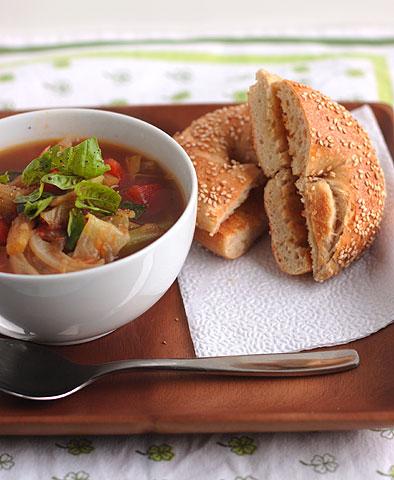 ダーリン製スープ+トマト