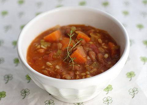 ピント・ビーンズ・トマトスープ