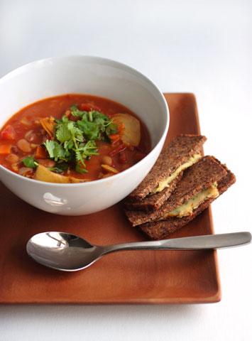 トマト寒天まめ豆スープ