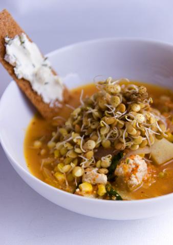 具だくさんキムチ味噌スープ