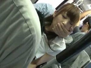 出勤途中の激カワOLが痴漢の餌食になり電車内で公開中出しレイプ!!