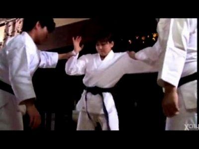 柔道女子が男に試合を挑むも、羽交い絞めにされ挿入、最後は中出し一本!