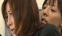 【村上涼子】 女性専用車両で人妻がレズに痴漢される恥辱動画