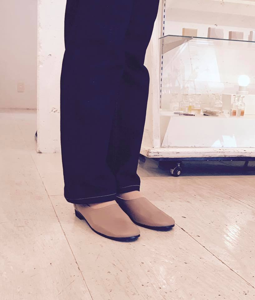 Siesta Labo展示会の模様 girlielounge 履いた写真